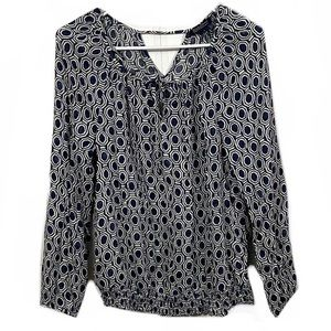 Lucky Brand Patterned Long Sleeve Blouse